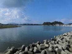遠賀川河口堰下流 江川河畔公園周辺