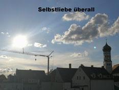 Sonne Himmel Wolken Selbstliebe überall