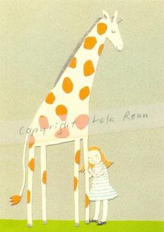 Postkarte Giraffe, Lola Renn