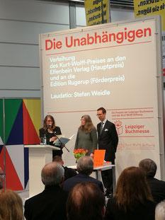 Verleihung des Kurt-Wolff-Preises 2018