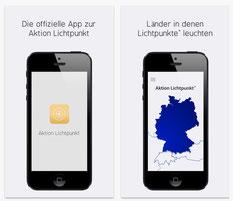 iPhone Screenshots der App Aktion Lichtpunkt
