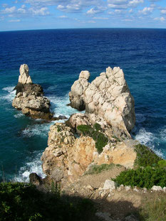 Mallorca Felsen Klippen Küste Meer
