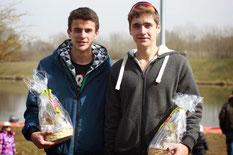 Paul TIXIER et Etienne JUILLET, vainqueurs en 2 sans barreur