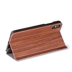 iPhone Xs MAX Fliphülle Bambus Holz