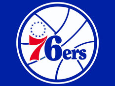 логотип команды Филадельфия Севенти Сиксерс 76 PHILA 76