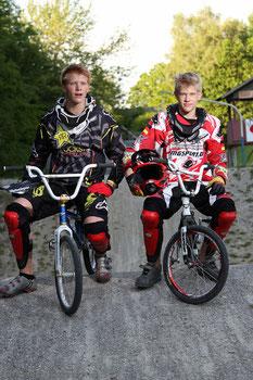 Michel und Maxi auf ihrer Heimbahn