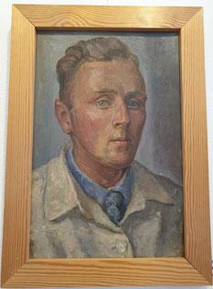 Selbstbildnis Peter Greve von 1937, Öl auf Pappe