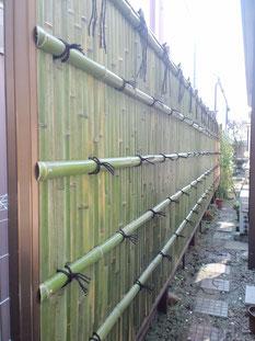 建仁寺垣 製作 アルミ支柱
