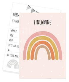 Einladungskarte Regenbogen