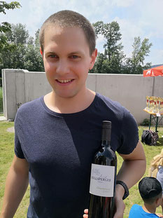 Matthias Rastbichler bei der Siegerehrung (Foto zVg)