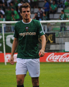 Manu Barreiro, máximo goleador del Racing de Ferrol con 21 tantos.