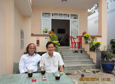 Họa sĩ TCQ viếng thăm Nguyễn Công Quận. Xuân Giáp Ngọ 2014