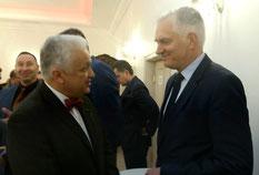 Wojciech Jachimowicz w rozmowie z wicepremierem Jarosławem Gowinem