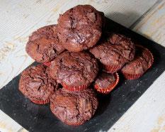 Muffins chocolat coeur chocolat