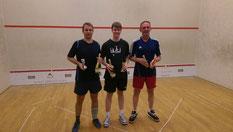 Die Sieger des Turniers (v.l.n.r.: Ingo Frank, Thorsten Lentfer, Hartmut Ehrk)