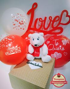 San Valentin, regalos personalizados: desayunos, packs, peluches, consulta para más información.