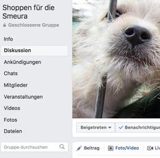 Shoppen für die Smeura. Facebook Gruppe. Bild Screenshot