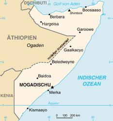 Dinsor liegt östlich von Baidoa. Quelle: Wikipedia