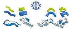 Lagerungshilfen aus Schaumstoff zur Optimierung der Pflege