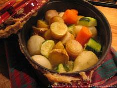 Cocotte lutée de petits légumes au gingembre
