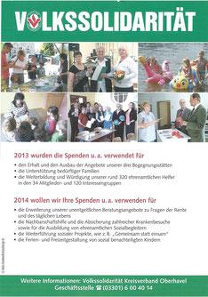 Spendensammlung Brandenburg 2014