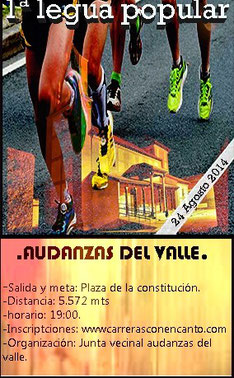 I LEGUA POPULAR AUDANZAS DEL VALLE, 24-08-2014