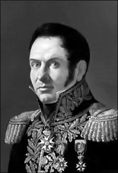 Général Harlet, commandant la 1ère brigade, 19ème division d'infanterie