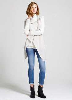 Mint Velvet Ecru Textured Jumper & Cardigan