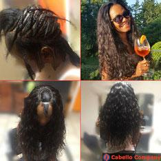 Haarverlängerung Weaving mit hochwertigen Haartressen - Cabello Company Frankfurt