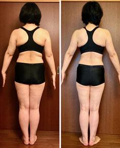 ボディ痩身 12回コース 50代主婦の体験結果 後ろ