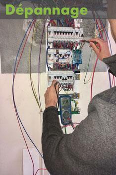 Dépannage d'une installation électrique chez un particulier à Albertville, par l'électricien ADRELEC 73