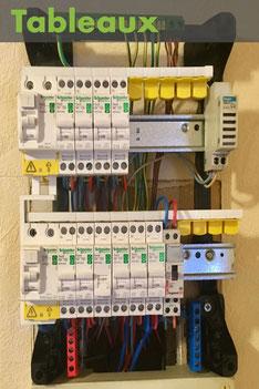 Tableau électrique après mise aux normes en vigueur (NFC 15-100) à Albertville, réalisé par Arnaud, électricien