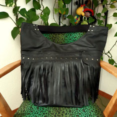Shopper 60x65x 25cm mit schwarzen Nieten