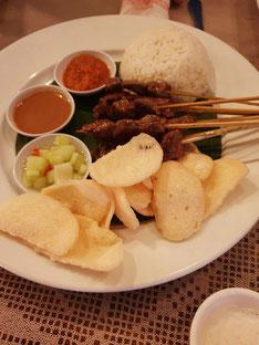 Bali Cafe Restaurant Seminyak Satay Spieße