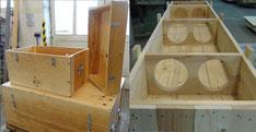 Dauerksiten (Mehrwegkisten) und Sonderkisten - Kastenverschlüsse, Seite und Deckel aufklappbar, passgenaue Einbauten,...