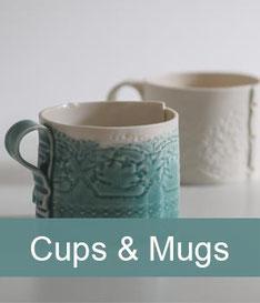porcelain ceramics cups and mugs