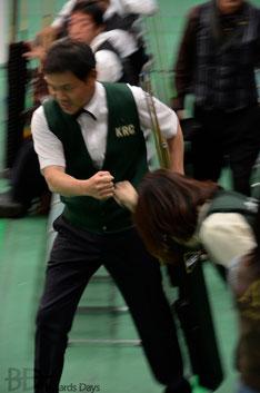 折戸和幸選手(京都)、出陣