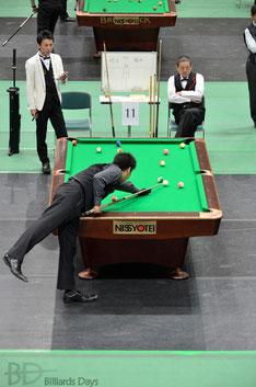 埼玉の喜島球聖(手前)vs福井の大ベテラン道川選手。朝イチから堪らない好カード
