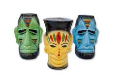 Vasos coctail cabezas indigenas