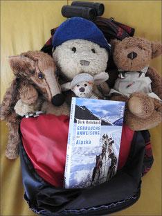 Kasimir, Cäsar, Fredi und Kerl mit einer Gebrauchsanweisung für Alaska