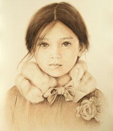 Portraitzeichnung Porträt mit Buntstiften