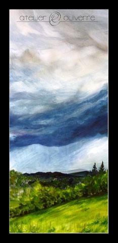 peinture ciel creuse