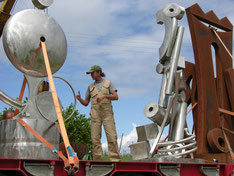 Loading sculptures that are inspired by Tony Cragg.