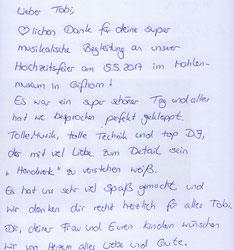 DJ für Gifhorn im Mühlenmuseum. Tolle Musik, tolle Technik und ein top DJ Tobi Haase.