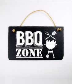 Wandbord leisteen € 9,95 BBQ zone