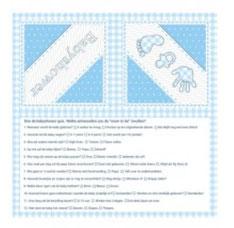 Servetten Babyshower blauw 33x33cm 20 stuks € 3,25