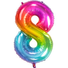 Folieballon Rainbow 8 € 3,99 81cm