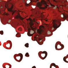 afeldecoratie / sierconfetti hart rood € 1,75 UITVERKOCHT