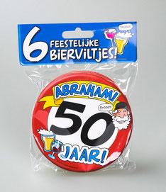 Bierviltjes Hoera Abraham 50 jaar €4,95