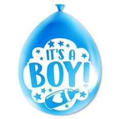 Party ballonnen It's a boy! 8 stuks € 2,25